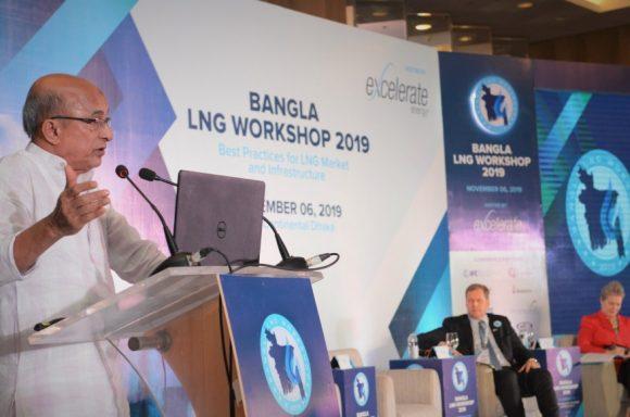 Energy advisor to the prime minister of Bangladesh speaks at Bangla LNG Workshop