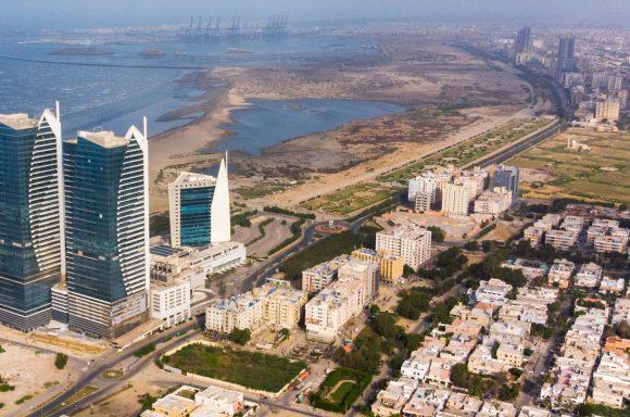 Aerial view of Karachi