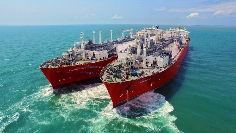 Ships at E-Fit LNG Terminal