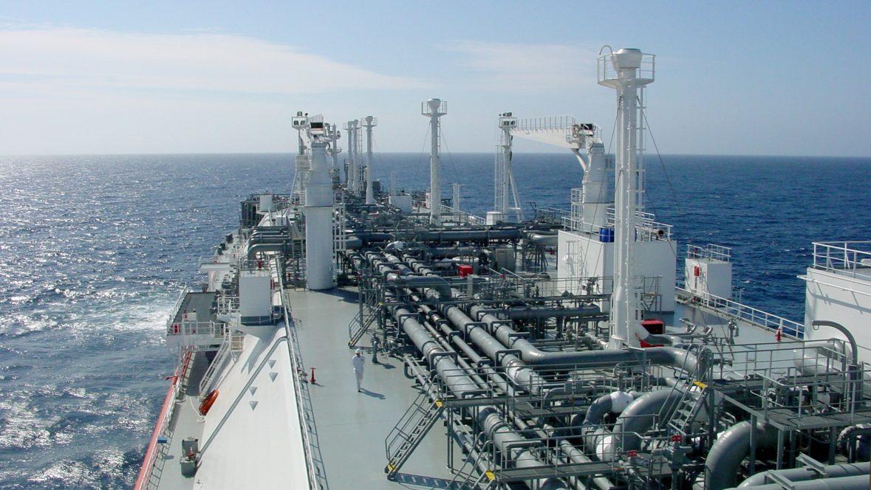 Gulf Gateway Deck view of FSRU