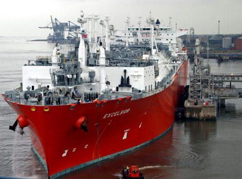 Ship at clean energy LNG terminal