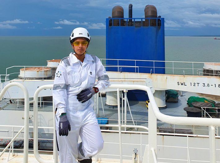 LNG terminal worker