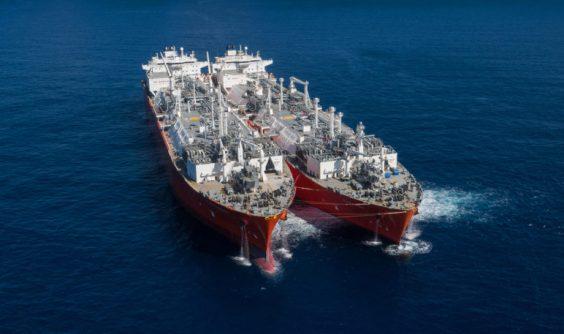 Ship at LNG clean energy terminal