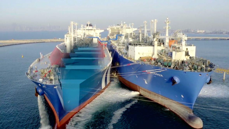 Jebel Ali FSRU ship at LNG clean energy terminal