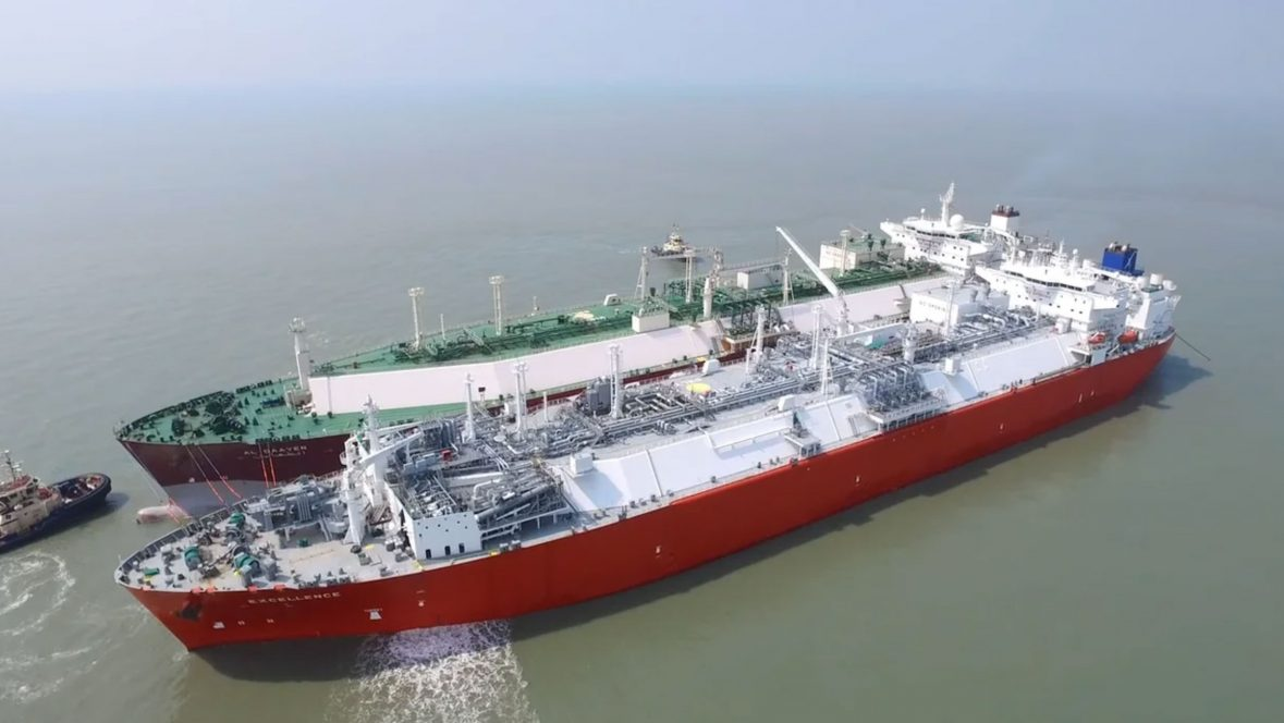 Floating storage regasification units at offshore LNG terminal