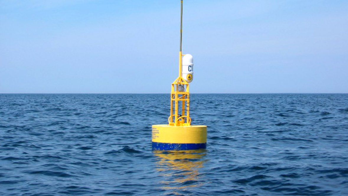 Whale acoustic buoy at NEG