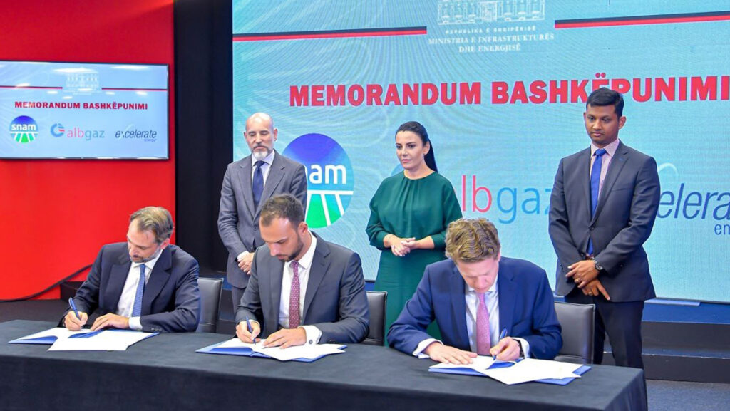 Signing ceremony for Albanian pipeline
